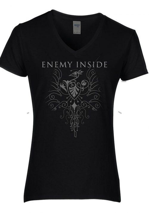Enemy Inside Merchandise Girlie Shirt Black Phoenix