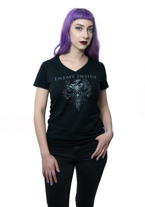 Enemy Inside Merchandise Black Phoenix Girlie Shirt